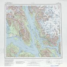 United States Topographical Map by Juneau Topographic Map Sheet United States 1985 Full Size