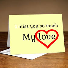 i miss you cards personalised miss you cards buy customised i miss you greeting