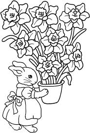 easter colouring easter bunny rabbit coloring pictures