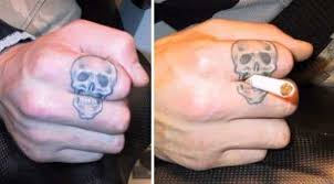 14 clever and funny finger tattoos