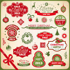 set of buy sale christmas and new year advertising banners and