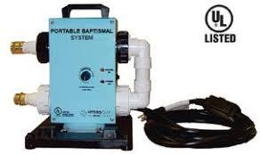 portable baptismal portable baptistry heater