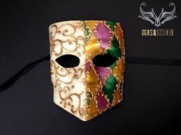 mardi gras skull mask venetian bauta masquerade mardi gras mask purple green gold