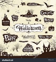 happy halloween day silhouette collections design stock vector