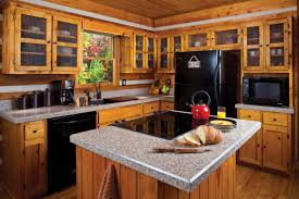 decorative kitchen ideas brown cabinet and bar kitchen ceiling maple wooden flooring white