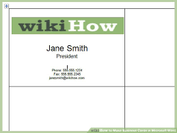 how to make business cards in microsoft word with pictures