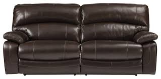 damacio two seat power reclining sofa dark brown contemporary