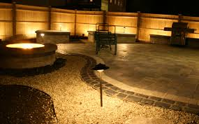 Patio Paver Lights Artistic Landscapes Landscape Lighting Around A Patio