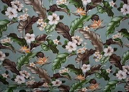 Vintage Drapery Fabric Kahua Barkcloth Hawaii Fabrics Tropical Botanical Vintage