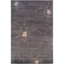 Area Rug Grey by Linon Milan Collection Area Rug Gray Ivory Contemporary Home