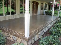 Stain Old Concrete Patio by Front Or Back Porch Idea