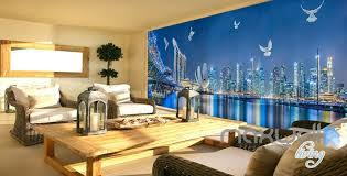 wallpaper for entire wall 3d city night light show entire living room office wallpaper wall