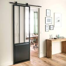 monter une cuisine porte coulissante en verre pour cuisine une porte verriare