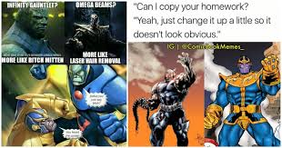 Funny Character Memes - 15 funny darkseid vs thanos memes show the hilarious side of these