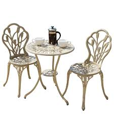 Bistro Set Outdoor Bar Height by Patio Furniture Garden Outdoor Bistro Table Awesomeo