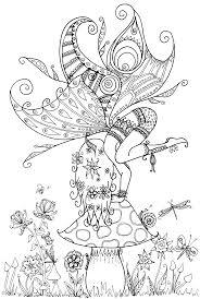 fairy on a toadstool by welshpixie deviantart