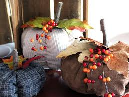 easy sew fabric pumpkins hgtv
