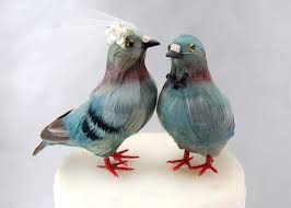 birds wedding cake toppers pigeon cake topper groom bird wedding cake topper