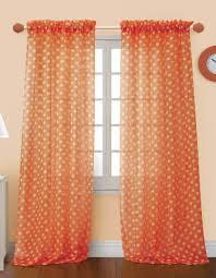 4 styles of orange sheer curtains