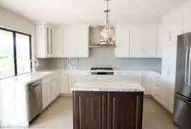 complete kitchen remodel new cabinets granite tile corner for
