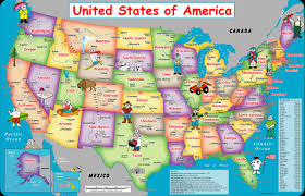 Physical Map Of The United States by The United States Hawaii Alaska Map