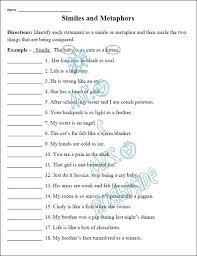 4th grade figurative language worksheets 4th grade printable