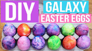 Decorate Easter Eggs With Food Coloring by Diy Shaving Cream Galaxy Easter Eggs Pinterest Inspired Youtube