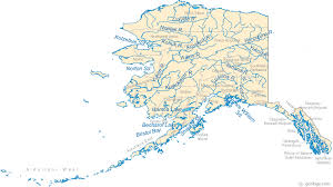 Alaska rivers images Map of alaska lakes streams and rivers gif