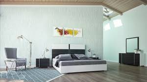 Italian Modern Bedroom Furniture Sets Domus Corrado Italian Modern White U0026 Grey Bedroom Set