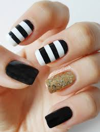 simple black and gold nail design ideas cool nail design ideas