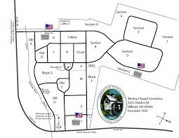 Hilliard Ohio Map Cemeterymap Jpg