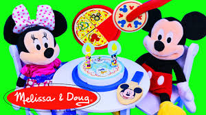 mickey mouse clubhouse melissa u0026 doug wooden pizza u0026 birthday cake