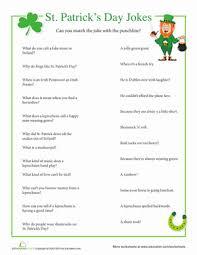 st patrick u0027s day jokes holiday games worksheets and saints