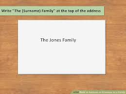 what to write on a christmas party invitation 3 ways to address an envelope to a family wikihow