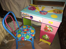 Kids Furniture Desk by Shopkins Custom Painted Diy Desk U0026 Chair Diy Kids Furniture
