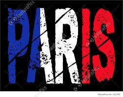 Paris Flag Flags Grunge Paris Text With Flag Stock Illustration I1977808