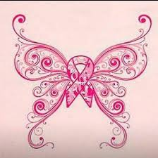 butterfly breast cancer maybe to put on a shirt