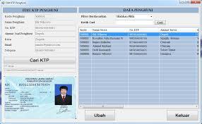 membuat ktp dengan html source code aplikasi software program aplikasi sistem informasi kos