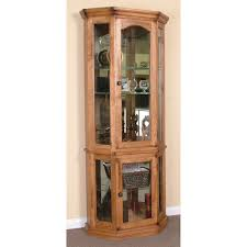 Modern Corner Curio Cabinet Artiva Usa Home Deluxe 17 5 X 71 Mirror Free Standing Linen 5quot