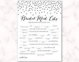 bridal mad libs bridal mad libs bridal shower wedding shower nautical