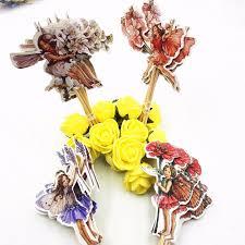 24pcs cocktail umbrella picks flower fairy girls sticks art fruit