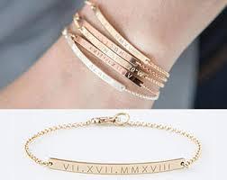 personalized bracelets for engraved bracelet etsy