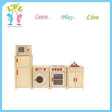 Preschool Kitchen Furniture Nursery Preschool School Wooden Children Kitchen Furniture Set