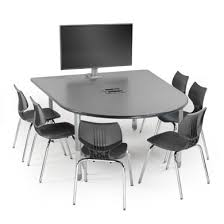 D Shaped Conference Table 04137 Media Table Power Mount Salk Classrooms Pinterest