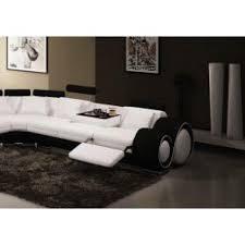 canap pas cher cuir canapé panoramique cuir blanc et noir oslo angle achat vente