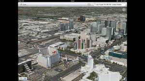 Downtown Las Vegas Map by Apple Ios 6 New Maps App Flyover Mode 3d Las Vegas Ipad