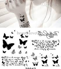 wholesale letter butterfly tattoo stickers temporary tattoos