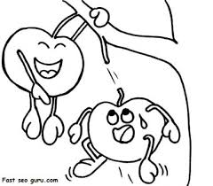 print funy apple face coloring book pages printable coloring