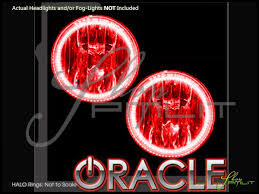 oracle 06 10 hummer h3 led dual color halo rings fog lights bulbs