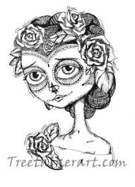 sugar skull drawings by binge thinking